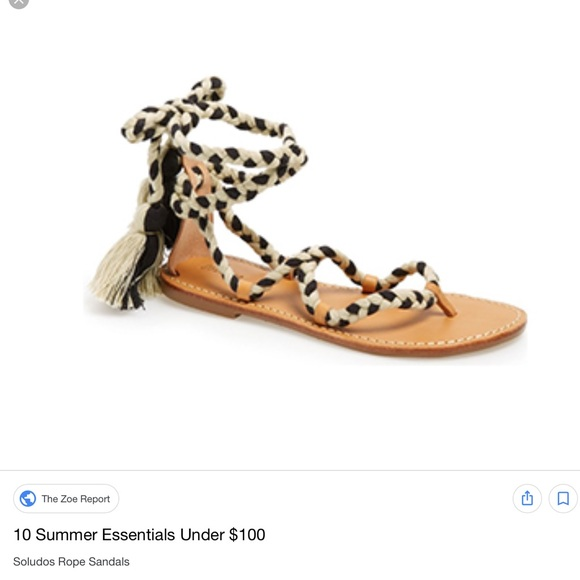 7ebdc7523b36 Soludos rope tie sandals. M 5ada67119cc7efff99e4593a